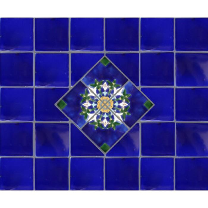 Alhambra Cobalt Blue Mexican Tile